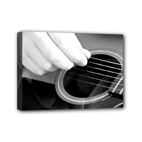 Guitar Player Mini Canvas 7  X 5  by timelessartoncanvas