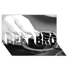 Guitar Player Best Bro 3d Greeting Card (8x4)
