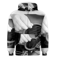 Guitar Player Men s Zipper Hoodies by timelessartoncanvas