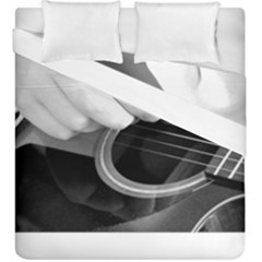 Guitar Player Duvet Cover (king Size) by timelessartoncanvas