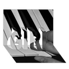 The Piano Player Girl 3d Greeting Card (7x5)