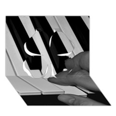 The Piano Player Clover 3d Greeting Card (7x5)  by timelessartoncanvas