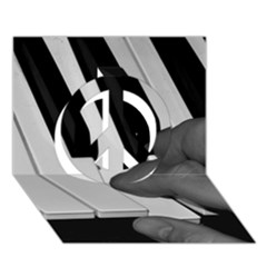 The Piano Player Peace Sign 3d Greeting Card (7x5)