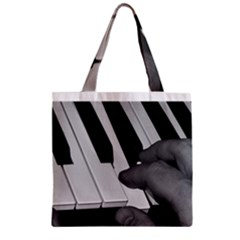 The Piano Player Zipper Grocery Tote Bags by timelessartoncanvas