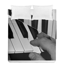 The Piano Player Duvet Cover (Twin Size) by timelessartoncanvas