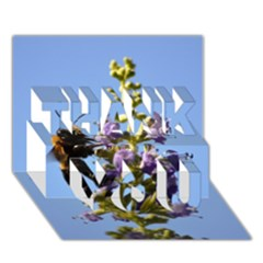 Bumble Bee 1 Thank You 3d Greeting Card (7x5)  by timelessartoncanvas