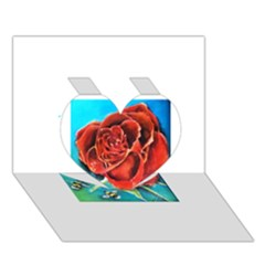Bumble Bee 3 Heart 3d Greeting Card (7x5)