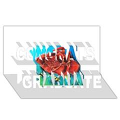 Bumble Bee 3 Congrats Graduate 3d Greeting Card (8x4)