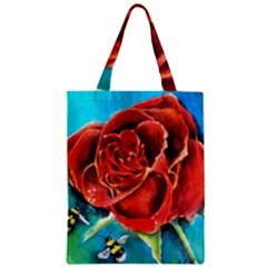 Bumble Bee 3 Zipper Classic Tote Bags by timelessartoncanvas