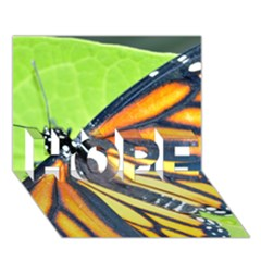 Butterfly 2 Hope 3d Greeting Card (7x5)