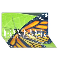 Butterfly 2 Engaged 3d Greeting Card (8x4)  by timelessartoncanvas