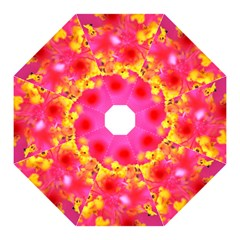 Bright Pink Hibiscus Hook Handle Umbrellas (medium) by timelessartoncanvas
