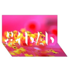 Bright Pink Hibiscus #1 Dad 3d Greeting Card (8x4)