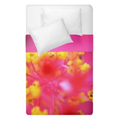 Bright Pink Hibiscus Duvet Cover (single Size) by timelessartoncanvas