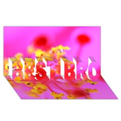 Bright Pink Hibiscus 2 Best Bro 3d Greeting Card (8x4)