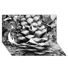 Pinecone Spiral Twin Hearts 3d Greeting Card (8x4)