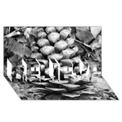 Pinecone Spiral Believe 3d Greeting Card (8x4)