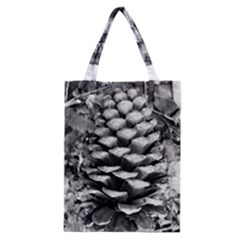 Pinecone Spiral Classic Tote Bags by timelessartoncanvas