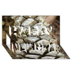 Pincone Spiral #2 Happy New Year 3d Greeting Card (8x4)  by timelessartoncanvas