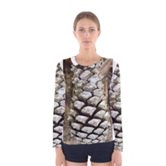 Pincone Spiral #2 Women s Long Sleeve T Shirts by timelessartoncanvas