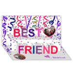ShMatty s b-day card - Best Friends 3D Greeting Card (8x4)