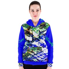 Officially Sexy Blue Floating Hearts Collection Women s Zipper Hoodie by OfficiallySexy