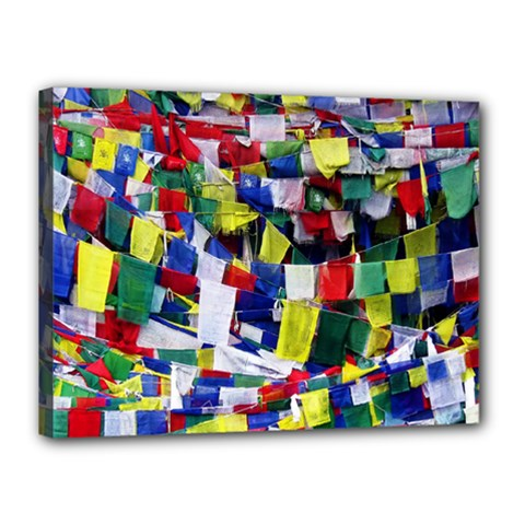 Tibetan Buddhist Prayer Flags Canvas 16  X 12