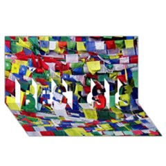 Tibetan Buddhist Prayer Flags Best Sis 3d Greeting Card (8x4)