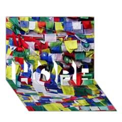 Tibetan Buddhist Prayer Flags Hope 3d Greeting Card (7x5)