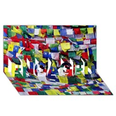 Tibetan Buddhist Prayer Flags Engaged 3d Greeting Card (8x4)  by CrypticFragmentsColors
