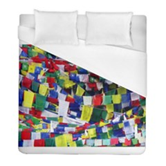 Tibetan Buddhist Prayer Flags Duvet Cover Single Side (twin Size) by CrypticFragmentsColors