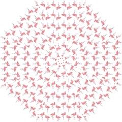 Pink Flamingo Pattern Straight Umbrellas