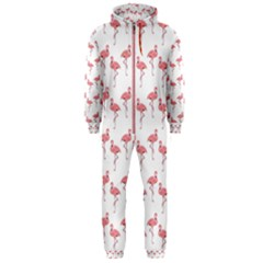 Pink Flamingo Pattern Hooded Jumpsuit (Men)  by CrypticFragmentsColors
