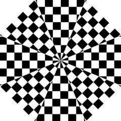 Checkered Flag Race Winner Mosaic Tile Pattern Straight Umbrellas by CrypticFragmentsColors