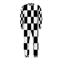 Checkered Flag Race Winner Mosaic Tile Pattern Onepiece Jumpsuit (kids)