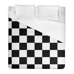 Checkered Flag Race Winner Mosaic Tile Pattern Duvet Cover Single Side (twin Size) by CrypticFragmentsColors