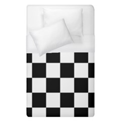 Checkered Flag Race Winner Mosaic Tile Pattern Duvet Cover Single Side (single Size) by CrypticFragmentsColors