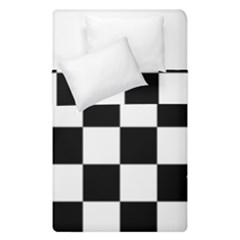 Checkered Flag Race Winner Mosaic Tile Pattern Duvet Cover (single Size) by CrypticFragmentsColors