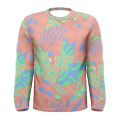 Tropical Summer Fruit Salad Men s Long Sleeve Tee by CrypticFragmentsColors
