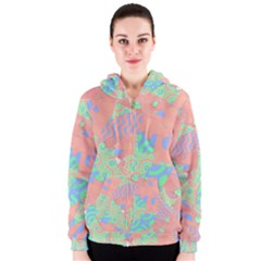 Tropical Summer Fruit Salad Women s Zipper Hoodie by CrypticFragmentsColors