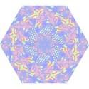 Girls Bright Pastel Abstract Blue Pink Green Mini Folding Umbrella View1