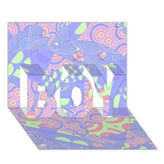 Girls Bright Pastel Abstract Blue Pink Green Boy 3d Greeting Card (7x5)
