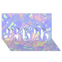 Girls Bright Pastel Abstract Blue Pink Green #1 Dad 3d Greeting Card (8x4) by CrypticFragmentsColors
