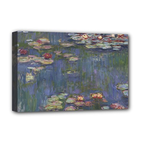 Claude Monet   Water Lilies Deluxe Canvas 18  X 12   by ArtMuseum