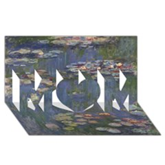Claude Monet   Water Lilies Mom 3d Greeting Card (8x4)  by ArtMuseum