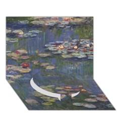 Claude Monet   Water Lilies Circle Bottom 3d Greeting Card (7x5)