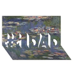 Claude Monet   Water Lilies #1 Dad 3d Greeting Card (8x4)