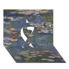 Claude Monet   Water Lilies Ribbon 3d Greeting Card (7x5)