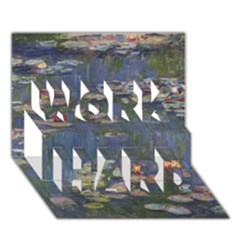 Claude Monet   Water Lilies Work Hard 3d Greeting Card (7x5)  by ArtMuseum