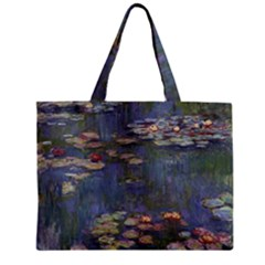 Claude Monet   Water Lilies Zipper Tiny Tote Bags by ArtMuseum